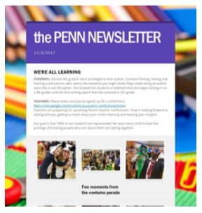 the PENN NEWSLETTER 11/3/17