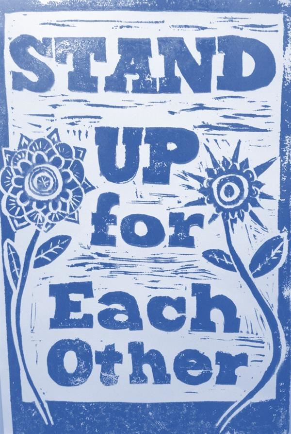 Stand Up For Each Other Poster