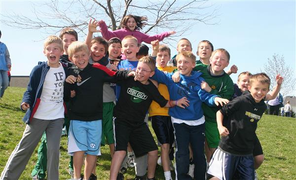Weber Elementary Students at Recess