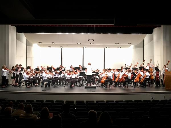 South East Junior High Orchestra on sates